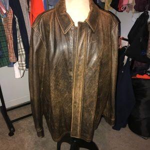 Worn Eddie Bauer Leather Jacket